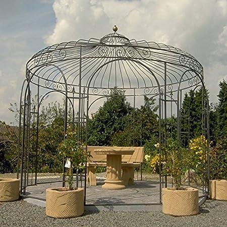 Mpire - Cenador de jardín (metal, hierro, 350 cm de diámetro, galvanizado): Amazon.es: Jardín