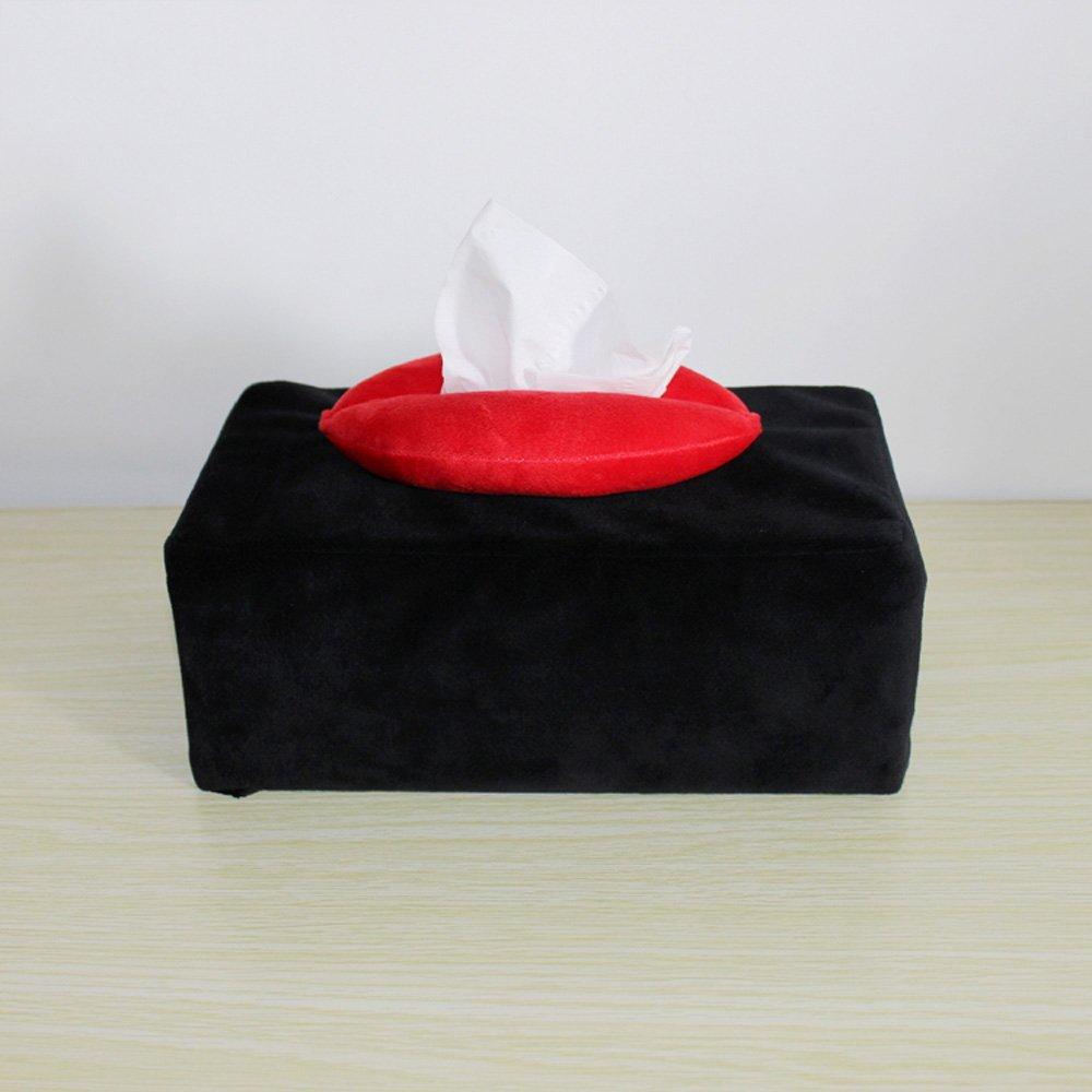 Shelfhx Creative Lips Tissue Box Car Room WC portatovaglioli di carta portasalviette Kleenex Box Contenitore di carta Case per matrimoni Regali