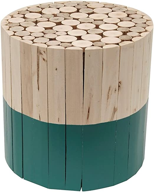30 x 30 x 30 cm zweifarbig Holz The Home Deco Factory Hocker rund