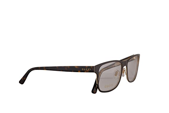b4da11f0d0b Amazon.com  Gucci GG0317O Eyeglasses 56-17-145 Brown Havana w Demo ...