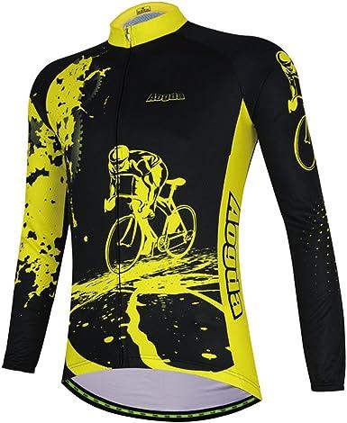 Thermal Cycling Jersey Bicycle Shirt Long Sleeve Bike Wear Top Jacket Winter 5XL