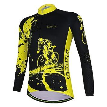 Amazon.com: Hombres Ciclismo jerseys – Chaqueta térmica de ...