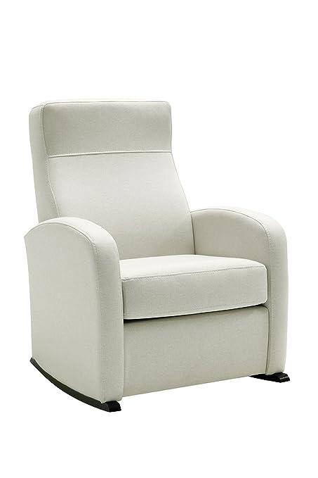 HOGAR TAPIZADO Butaca sillón Balancín Bob (Ideal para Lactancia) Tapizado en Microfibra (Water REPELENT) Color Beige Medidas: 74 x 72 x 100