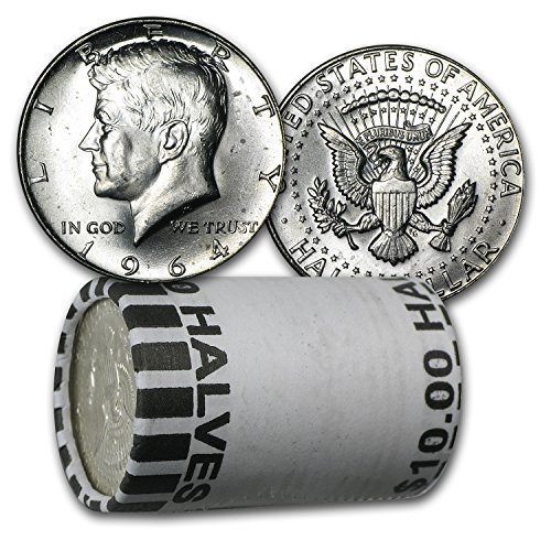 1964 Silver 1964-P/D Kennedy Half Dollar 20-Coin Roll BU Half Dollar Brilliant Uncirculated
