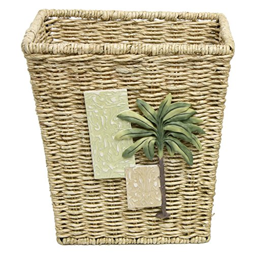 Bacova Guild Citrus Palm Wastebasket Garbage Can