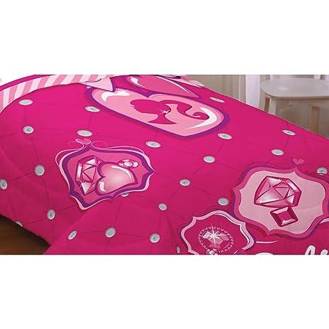 Amazon.com: Barbie Sweet Silhouette Twin Comforter Set: Home & Kitchen