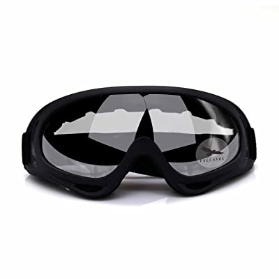 Freehawk Adjustable UV Protective Outdoor Glasses Motorcycle Goggles Dust-proof Protective Combat Goggles Sunglasses Outdoor Tactical Goggles to Prevent Particulates in Clear: Home Improvement
