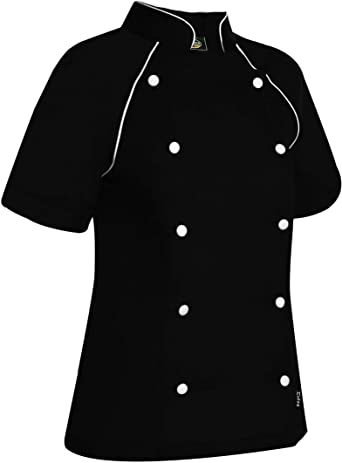 Chaquetilla Cocinera De Mujer Manga Corta. Cocina/Hostelería. Ref: 4335: Amazon.es: Ropa y accesorios