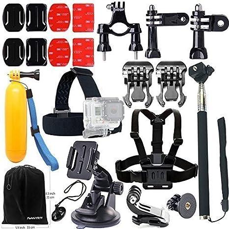 FUNNYKIT 11-en-1 accesorios Kit para GoPro casco arnés + cinturón ...