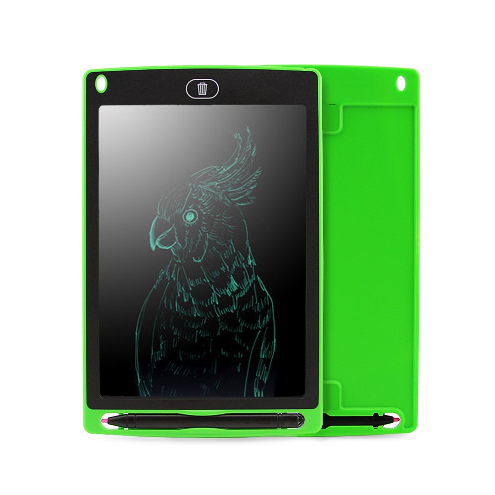 LCD Writing Tablet 8.5 inch Writing Drawing Board Handwriting Pad,with Stylus Pen,Magnets and Sleeve Case,Great Gift for Adults,Kids and Children at Home,School or Work Office (Green)