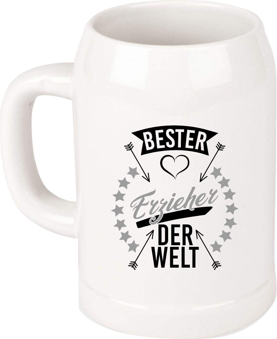 Shirtinstyle Jarra de Cerveza, Despedida Kita Guardería Escuela, Oficio, Annerkennung, Gracias, Motivo Elegir - Bester Erzieher del Mundo