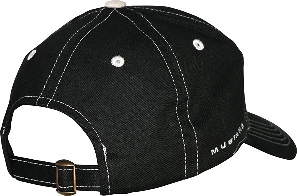 Ford Mustang Black Hat with Silver Stitching CFS CFSE75140