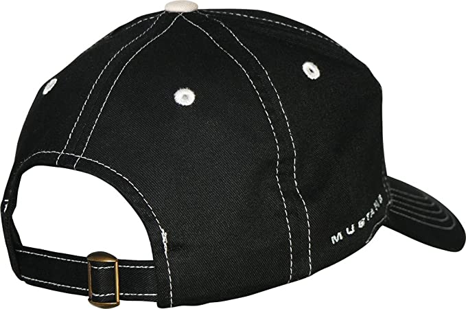 Amazon.com  Ford Mustang Black Hat with Silver Stitching  Clothing 00b67928ccb1