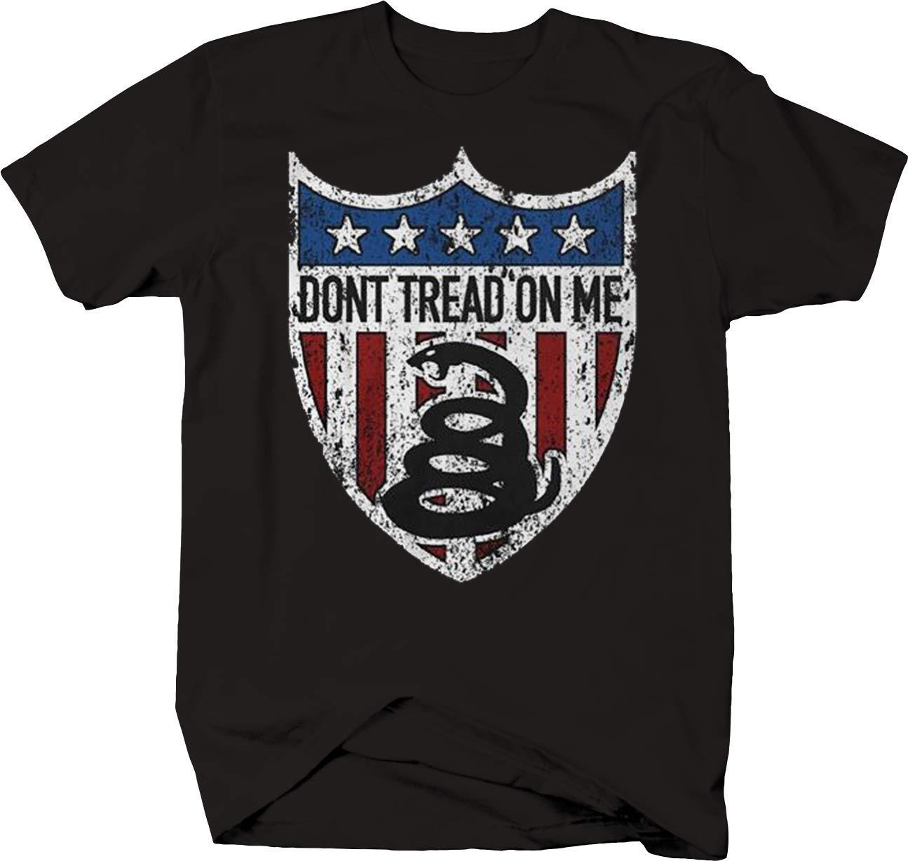 Dont Tread On Me American Flag Shield Snake Shirts