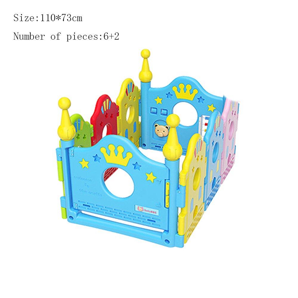 【現金特価】 XIAOLIN 子供の遊びフェンス屋内の赤ちゃんを這うフェンス (サイズ さいず さいず : 110* B07FL88WGR 73cm)* 110*73cm B07FL88WGR, Mrs.四季:711026d7 --- a0267596.xsph.ru