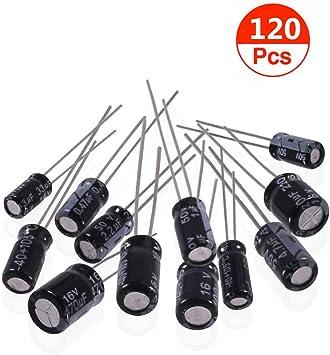 120 Value 0.22UF-470UF Electrolytic Capacitor Kit Assortment 12 Sets Each 10
