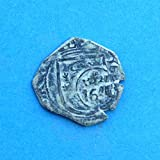 1641 ES Philip IV Spanish Castle  and  Lion Colonial Caribbean Pirate Era 8 Maravedis Cob Coin Very Good Details