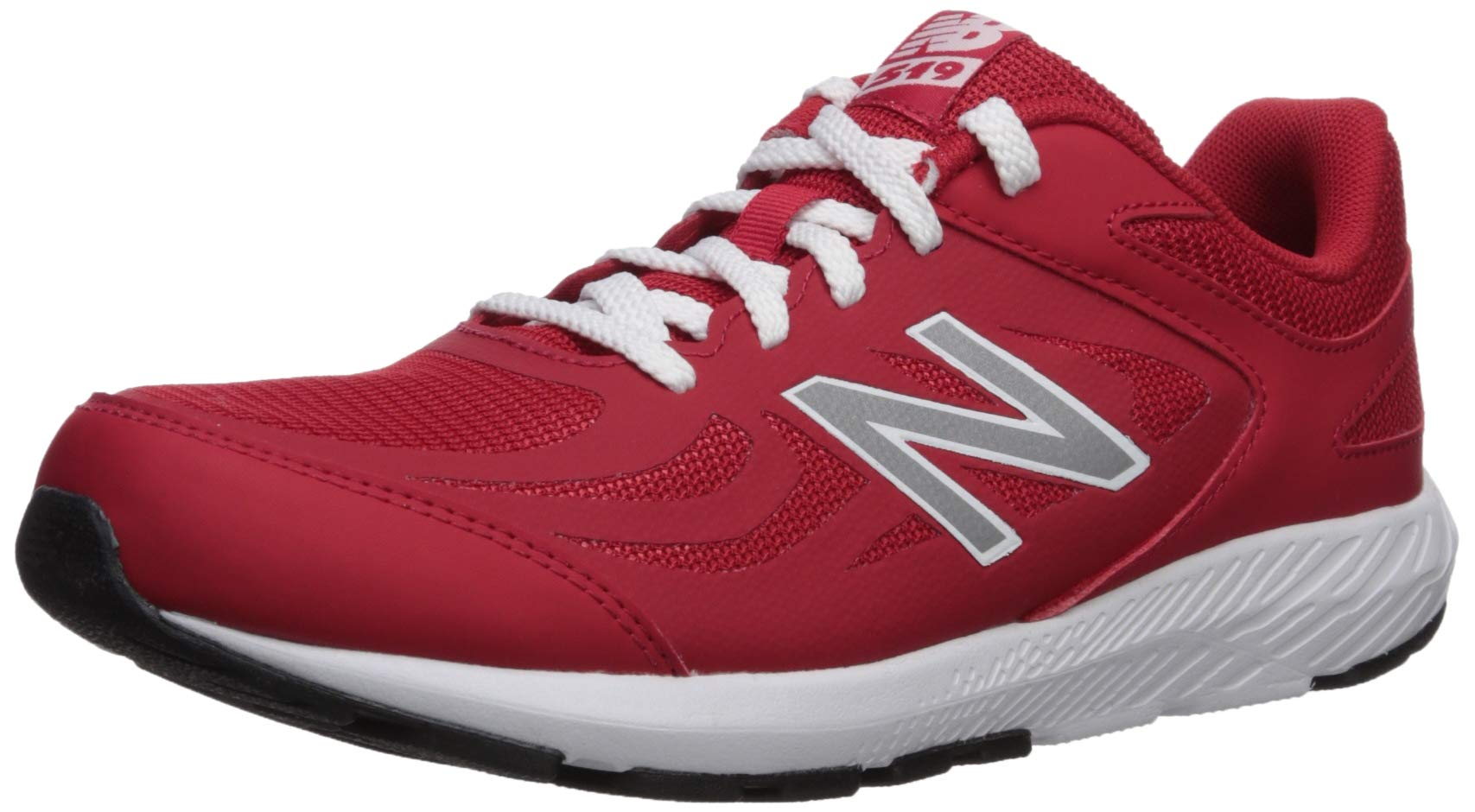 New Balance Boys' 519v1 Running Shoe, TEAM RED, 3M