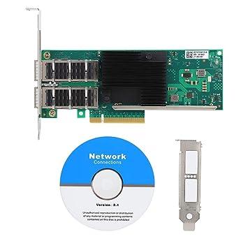 Denash Tarjeta de Red, 40GbE Gigabit PCI-E X8 Adaptador de ...