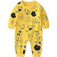 Bebés Mamelucos Monos Manga Larga Pijama Algodón Peleles Sleepsuit Ropa Niñas Niños Trajes Regalo(0-6 meses,Animales…
