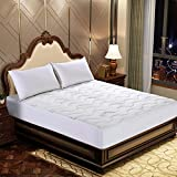 """Bamboo Living Waterproof Bamboo Quilted Mattress Pad, Deep Pocket Fits Mattress up to 18"""", King Size"""