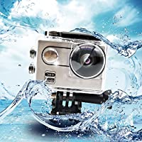 Action Camera, W22 WiFi Sport Camera Ultra 4K HD Waterproof with 220 degree , 360 Wide-Angle Lens 360VR and Rechargeable Battery, Including Full Accessories Kits and Waterproof Case