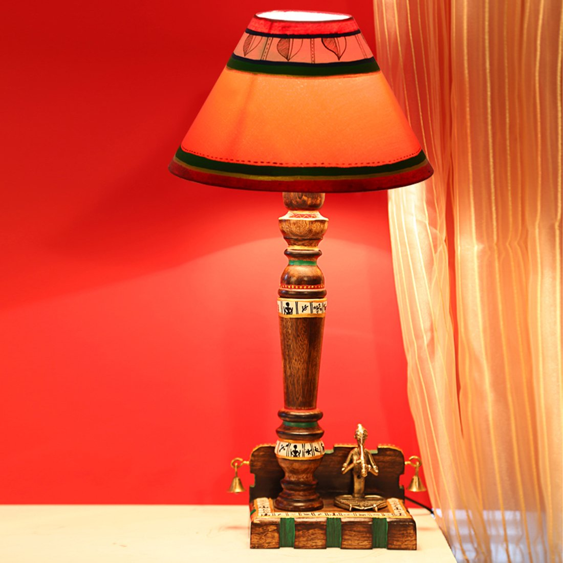 Wedding Gifts - Dhokra Figurine Lamp