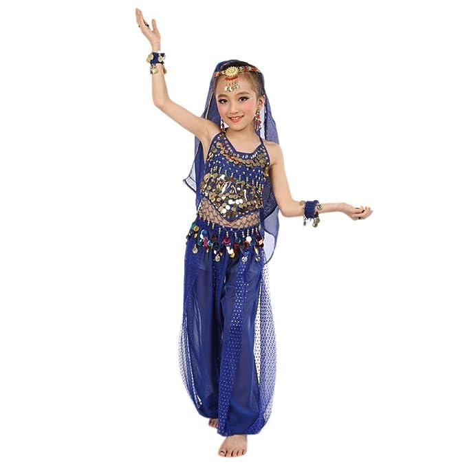 Fasching Madchen Kostum Fnkdor Tull Kleid Agypten Bauchtanzerin
