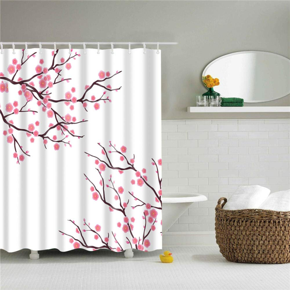 bathroom home Cartel de Flores Cortinas de Ducha Tela de ...