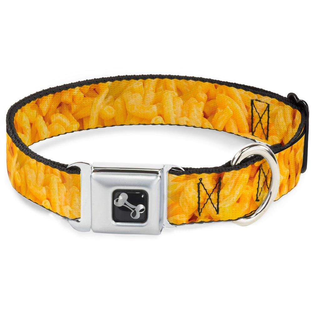 Mac & Cheese Vivid 1\ Mac & Cheese Vivid 1\ Buckle-Down Seatbelt Buckle Dog Collar Mac & Cheese Vivid 1  Wide Fits 11-17  Neck Medium