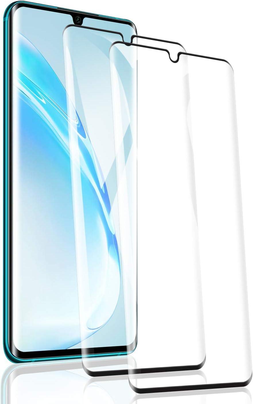 RSSYTZ [2 Pack Protector de Pantalla para Xiaomi Mi Note 10, [9H Dureza] [Resistente a Arañazos] [Admite la función de Huella Digital] Vidrio Templado Screen Protector para Xiaomi Mi Note 10