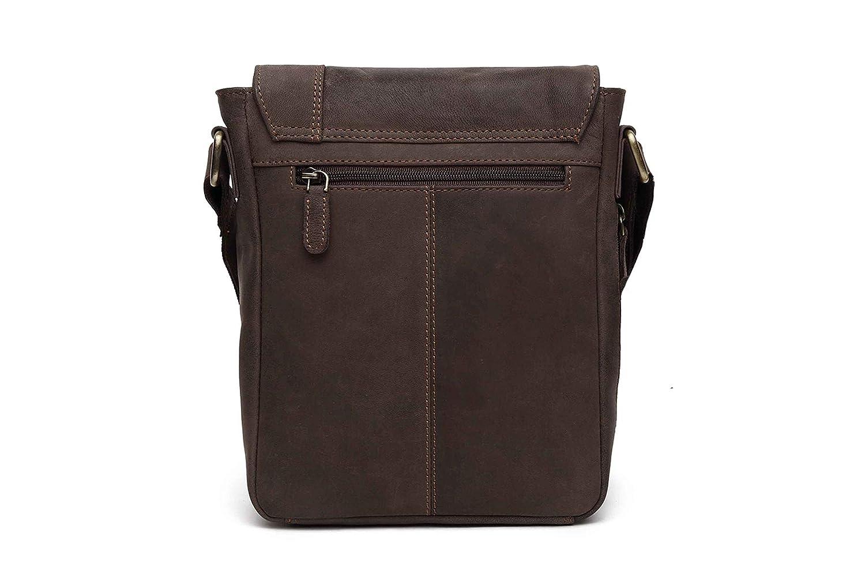 Shivay 10 Inches Luxury Style Genuine Hunter Leather Cross Body Shoulder Bag Handmade Purse