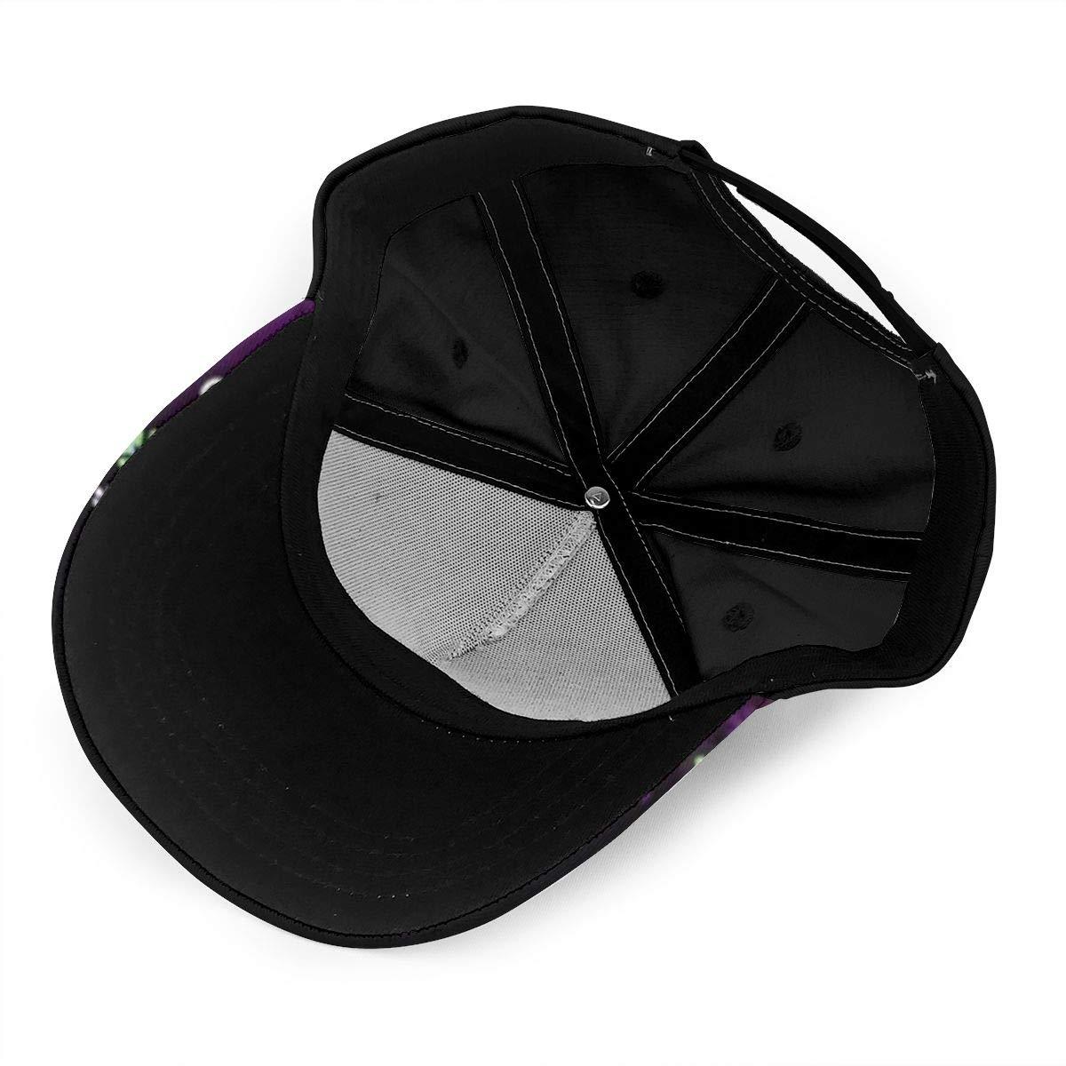 Purple Flower Design Summer Baseball Caps for Men and Women with Adjustable Snapback Strap