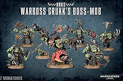 Warhammer 40,000 Ork Warboss Grukk's Boss-mob from Agd