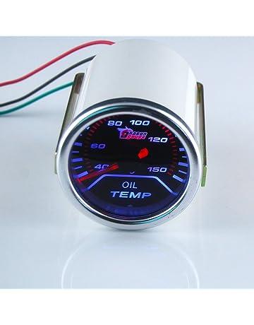 9195b03d76be THG 55mm super brillante LED azul Autom¨®vil Racing ahumado aceite digital  de temperatura