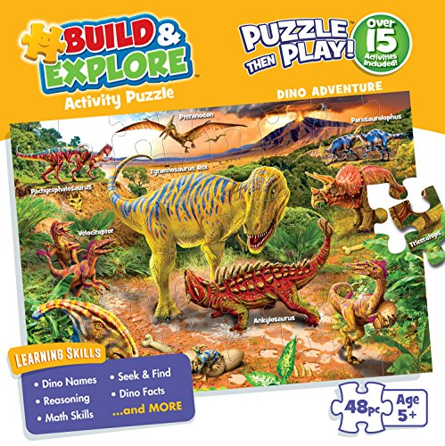 Buffalo Games - Dino Adventure - Kids 48 Large Piece Jigsaw Puzzle]()