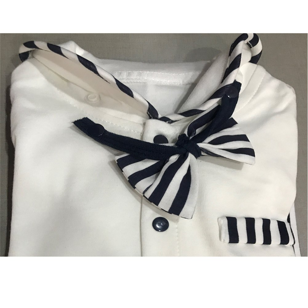 Fairy Baby Newborn Boys Gentleman Romper Outfit with Bow Tie
