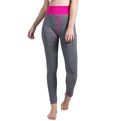 Pantalones Yoga Mujeres Mallas Deportivas Mujer Color Sólido ...