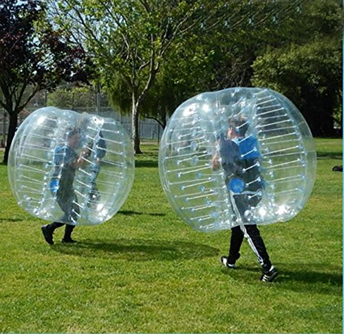 iMeshbean 1.2 M PVC Blue Color Inflatable Bumper Ball Body Zorbing Ball Zorb Bubble Soccer / Football for Adults and Kids Model#010 USA