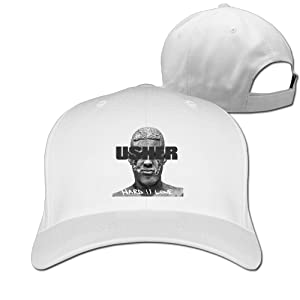 Adult Usher Hard II Love Cotton Adjustable Peaked Baseball Cap White