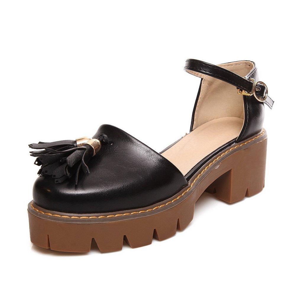 AdeeSu SLC04190 - Sandalias con cuña Mujer 35.5 EU|Negro