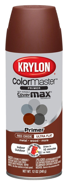 Krylon K05131702 ColorMaster Red Oxide Indoor/Outdoor Primer - 12 oz. Aerosol