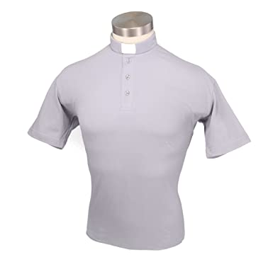 fdb9a287f23d91 Liturgical Creations Mens European Cotton Short Sleeve Clergy Polo Shirt at  Amazon Men's Clothing store: