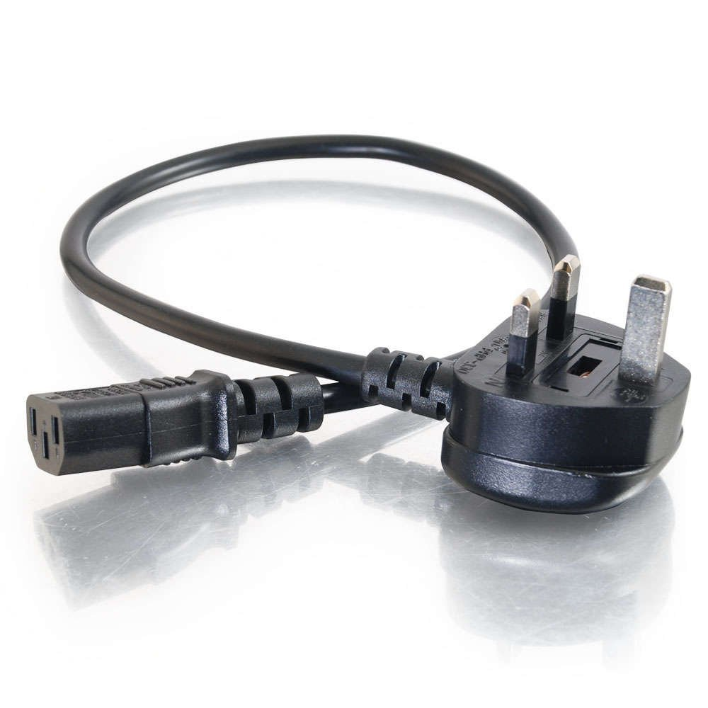C2G 2 Meter 20 AWG UK Power Cord (IEC320C13 to BS 1363) 88513 Cables To Go Switches