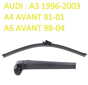 Juego de escobillas para limpiaparabrisas trasero para Audi A3 A4 A6 AVANT Aero: Amazon.es: Coche y moto