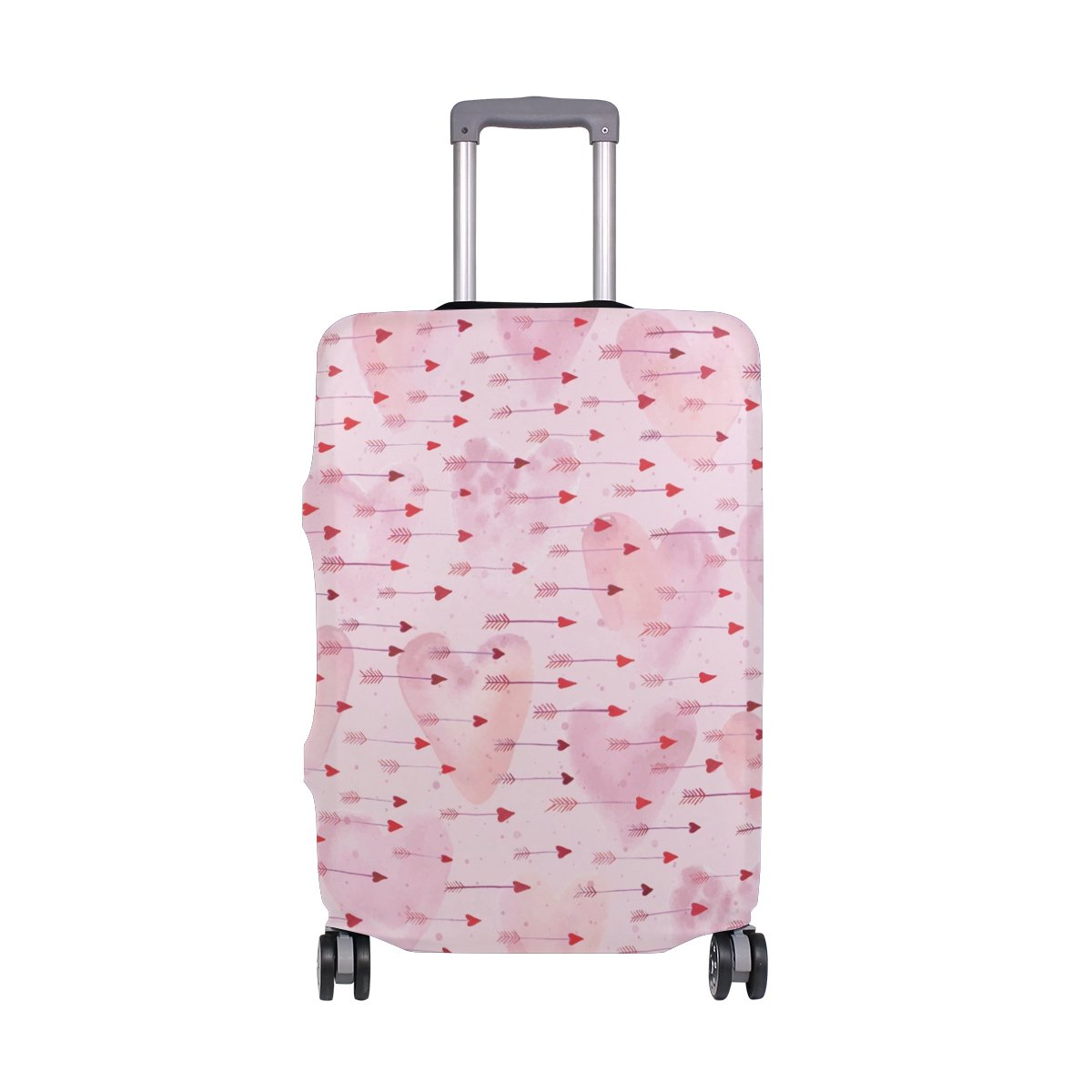 Love Luggage Cover Suitcase Protector Washable Spandex Baggage Cover with Zipper for Travel, Business and Outdoor