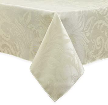 Superior Autumn Scroll Damask Tablecloth (60 X 104, Ivory)