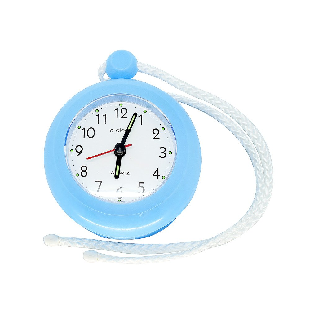 (Blue) UPIT water resistance Clock with String 12 x 4 x 14.5 cm (Blue) B074FC3QGD ブルー ブルー