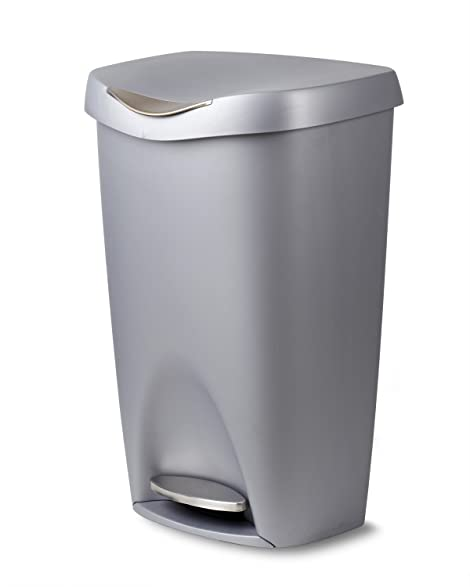 Amazon.Com: Umbra Brim Large Kitchen Trash Can With Stainless