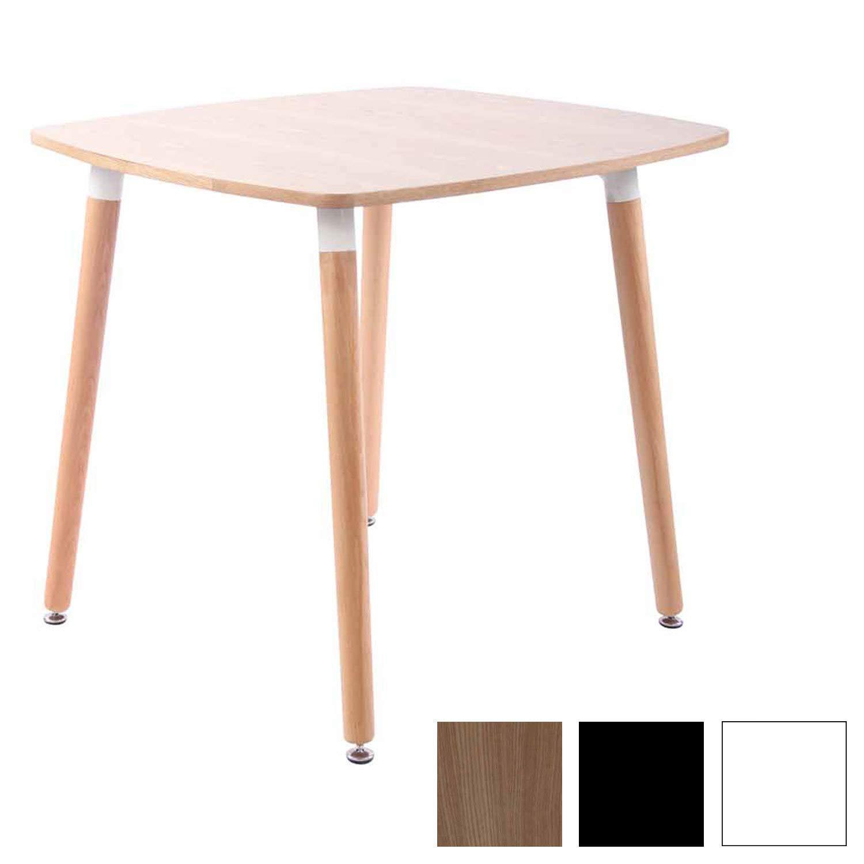 CLP Küchentisch VIBORG I Esstisch Mit MDF Tischplatte I Bistrotisch Mit Buchenholzgestell Natura, 80 cm